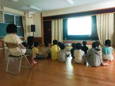 集会所で『夏休み子どもアニメ祭り』をやってみた。